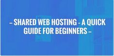Take a breather and catch up with my blog Shared Web Hosting – A Quick Guide For Beginners  http://feedproxy.google.com/~r/DigitalHarpreet/~3/DxC4F_fJyDc/?utm_campaign=crowdfire&utm_content=crowdfire&utm_medium=social&utm_source=pinterest