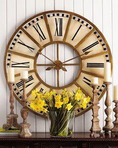 5cded7337b5 Decorando a sala de jantar - Modelos grandes ou que ocupem a parede toda ou  sobre · Relógios GrandesDecoração ...