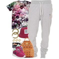 A fashion look from September 2014 featuring NIKE athletic shoes, MCM backpacks and ASOS rings. Browse and shop related looks.