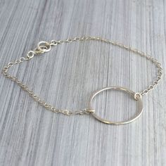 Sterling silver Karma chain bracelet Simple, Subtle and So very versatile! A…