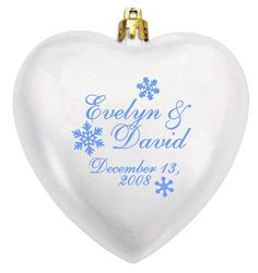 Heart personalized acrylic ornaments...shatterproof