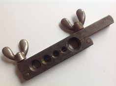 Large vintage solid iron tool imperial brass  butterfly screw measurements by Hannahandhersisters on Etsy
