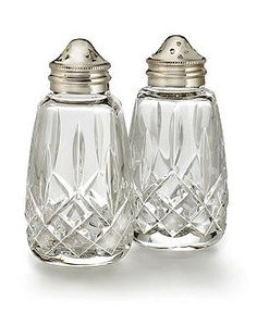 Waterford Crystal Lismore Salt and Pepper Shakers -- trying to find a nice vintage pair on eBay