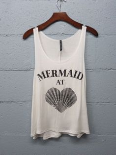 Mermaid At Heart Graphic Tank Top, Beach Tank, Boho, Mermaid Shirt by SavChicBoutique on Etsy https://www.etsy.com/listing/234926129/mermaid-at-heart-graphic-tank-top-beach