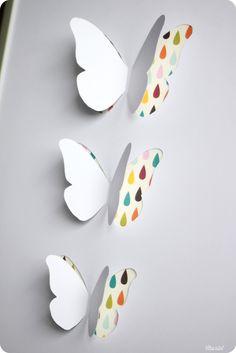 Et puis la neige elle est trop molle : cadre papillon. Tuto : http://etpuislaneigeelleesttropmolle.blogspot.fr/2012/07/diy-tutoriel-du-cadre-papillons.html