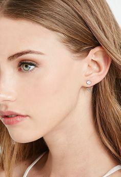 FOREVER 21 rhinestone ear jackets