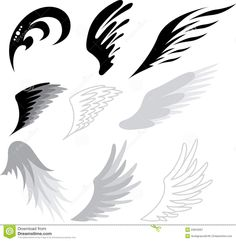 abstract angel wing tattoo design (top right).... Have 2 running parallel?