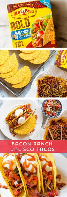 Looking for a flavor-packed dinner idea, but don't have a lot of time to prep? Try these Bacon Ranch Jalisco Tacos from @spicyperspectiv!  They're packed with spicy chorizo and delicious bacon - all packed in a ranch-flavored shell! Ready in just 20 minutes!