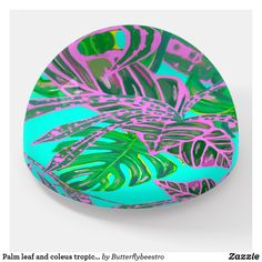 Shop Palm leaf and coleus tropical ice paperweight created by Butterflybeestro. Decoration Piece, Tropical Design, Fire And Ice, Bathroom Sets, Photo Quality, Coral Pink, Paper Weights, Thoughtful Gifts, Palm