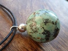 African turquoise and sterling silver necklace Mineral by Unics