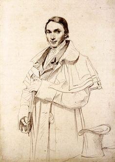 Great coat. Portrait of Jean Francois Antoine Forest by Jean-Auguste-Dominique Ingres (1780-1867).