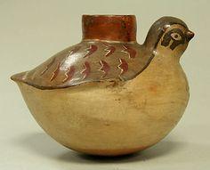 Bird Jar  Date:     1st–6th century Geography:     Peru Culture:     Nasca Medium:     Ceramic