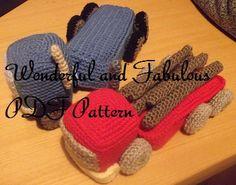 Crochet Pattern PDF Trucks Vehicles Lorry by wonderfulandfabulous, $3.99