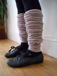Vintage style lacey mink pinky grey leg by MySugarSpunSister