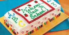 Welcome Back To School Cake