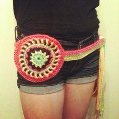 Handmade Crochet Mandala Utility Belt Fanny Pack by thetastefulhooker