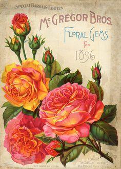 Floral Gem Roses printables