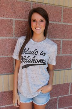 Made in Oklahoma marble t-shirt-more options