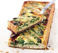Asparagus & cheese tart