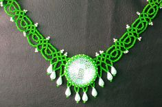 Free pattern for beautiful beaded necklace Summer Day. | Beads Magic