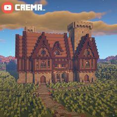 Video Minecraft, Minecraft Farm, Minecraft Cottage, Minecraft Castle, Cute Minecraft Houses, Minecraft Pictures, Minecraft Plans, Minecraft House Designs, Minecraft Survival