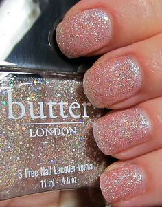 """Butter London """"Tart with a Heart"""" - This is the EXACT glitter I have been looking for! I had no idea what brand it was or what the name of the color was, but I saw a swatch and knew I had to have it!"""