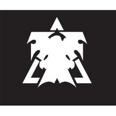Starcraft 2 Terran Sticker Decal. Peel and Stick. White