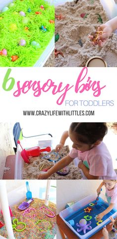 6 Sensory Bin Ideas for Toddlers, sensory play, toddler activities, rainy day games, indoor and outdoor play, multi-use toys for toddlers: