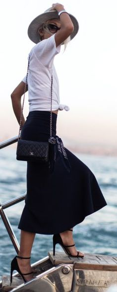 Black And White Casual Travel Fall Street Style Inspo by The Haute Pursuit