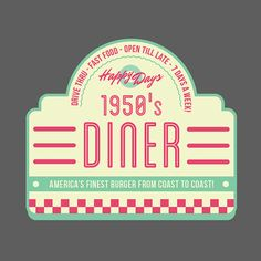 Download a FREE 1950s retro vector badge and rock around the clock! http://www.wingsart.net/home/2014/03/05/free-1950s-retro-vector-badge-happy-days-diner/ #designassets #creativemarket #vectors #logo