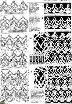 TRICO y CROCHET-madona-mía: Gráficos de puntos (Crochet ) ganchillo