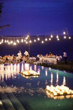 Floating candles for reception