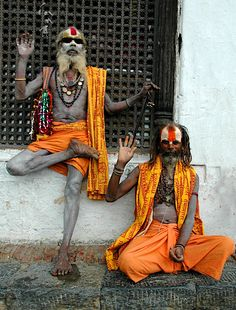 Sadhus.....nice sunglasses....... I know some people who would like to hang with these guys!