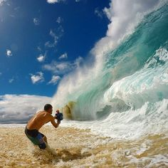 Photographer Clark Little is known for his jaw-dropping photos of giant waves crashing onto shore, a niche that's known as shorebreak photography. Earlier