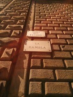 La #Rambla ou les #Champs_Elysee de #Barcelone ! Ambiance sympa en soirée ! Champs, Animal Print Rug, Cards Against Humanity, Projects
