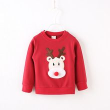 2016 autumn Baby Boys Christmas Clothes Kids Cute long-sleeve Printed deer T Shirts Children girl spring Clothes(China (Mainland))