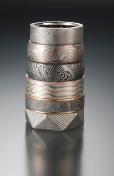 Chris Ploof Mokume Gane rings My Someday Hubby is gonna get a Chris Ploof ring.
