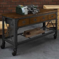 Good This Is The Work Bench We Bought To Turn Into Dual Sink Vanity Whalen  Industrial Metal And Wood Workbench