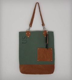 Large Army Canvas & Vintage Suede Tote | Women's Bags & Accessories | Heist | Scoutmob Shoppe | Product Detail