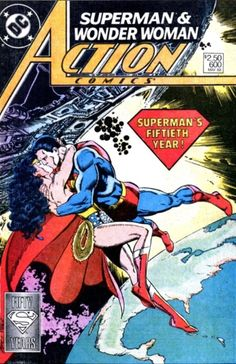 Superman & Wonder Woman in Action Comics # 600 - Cover Art by John Byrne, Kurt Schaffenberger, George Pérez, Mike Mignola, Jerry Ordway