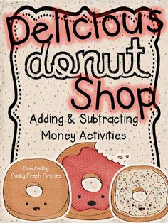 Cognitive Development - Adding and Subtracting Money Activities. perfect for and grade. 1 and 2 step word problems. and a cool bulletin board idea! Teaching Money, Teaching Math, Teaching Ideas, Kindergarten Math, Math For Kids, Fun Math, Maths, Second Grade Math, Grade 1
