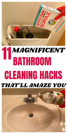 Bathroom Cleaning Hacks, Household Cleaning Tips, Cleaning Checklist, Cleaning Recipes, House Cleaning Tips, Diy Cleaning Products, Cleaning Solutions, Spring Cleaning, Borax Cleaning