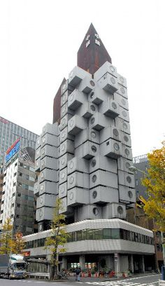"""Nakagin Capsule Tower"" designed by Kisho Kurokawa"