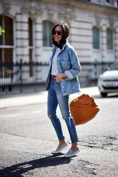 DENIM WITH DENIM IS LIKE THE FASTEST OUTFITS IDEA !! 30 Easy To Wear Outfits For Those Late Mornings || Easy to wear Outfits || Fenzyme.com