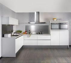 greeploze L-hoek keuken Kitchen Cupboard Designs, Modern Kitchen Cabinets, Kitchen Furniture, Kitchen Interior, New Kitchen, Kitchen Design, Kitchen Ideas, Modern Exterior Doors, Happy New Home
