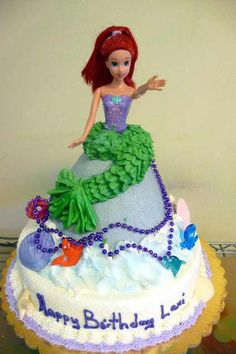Little Mermaid cake idea. I may be too old but I want this for my next Bday!