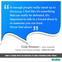 #CodySimpson Take a stand with celebrities to end #Cyberbullying today!