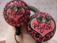 Stethoscope ID Name Tag And ID Badge Holder Reel Combo Pink Leopard Heart Customizable by sparklinghope on Etsy https://www.etsy.com/listing/260992067/stethoscope-id-name-tag-and-id-badge