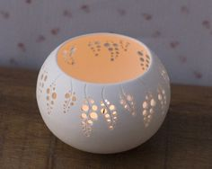 Porcelain Tea light Delight N.6. Design by Wapa Studio. $40