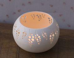 Porcelain Tea light holder - Wedding Candle Holder N.6. Modern ceramic votive holder. Tea light delight collection Wapa Studio. on Etsy